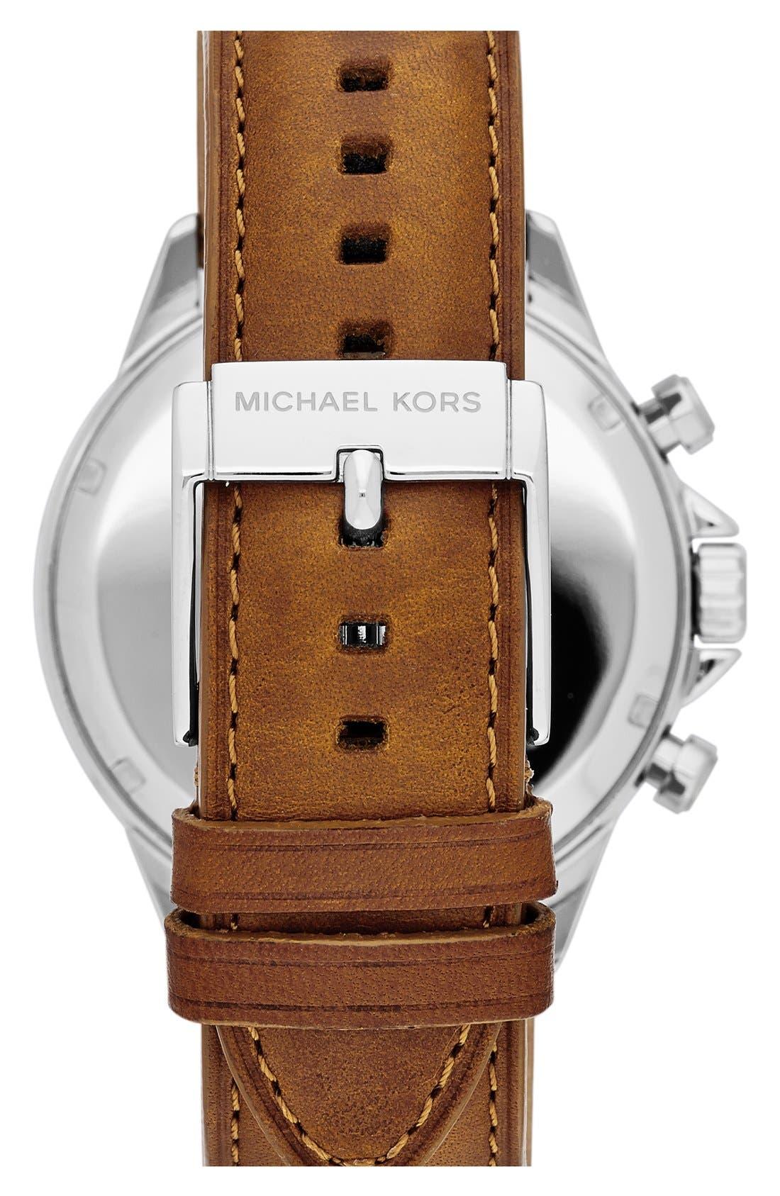 Alternate Image 3  - Michael Kors 'Gage' Chronograph Leather Strap Watch, 45mm