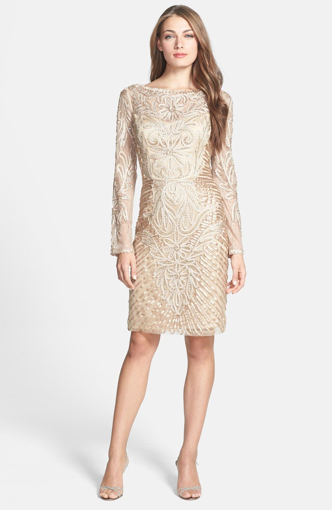 Alternate Image 3  - Sue Wong Embellished Long Sleeve Sheath Dress