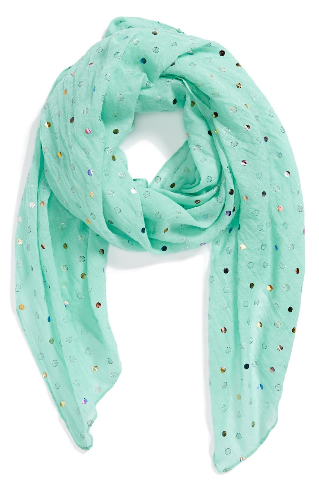 Main Image - The Accessory Collective Metallic Dot Scarf (Girls)