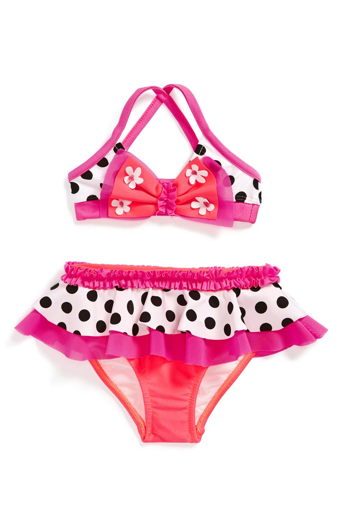 Alternate Image 1 Selected - Love U Lots 'Butterfly' Two-Piece Swimsuit (Baby Girls)