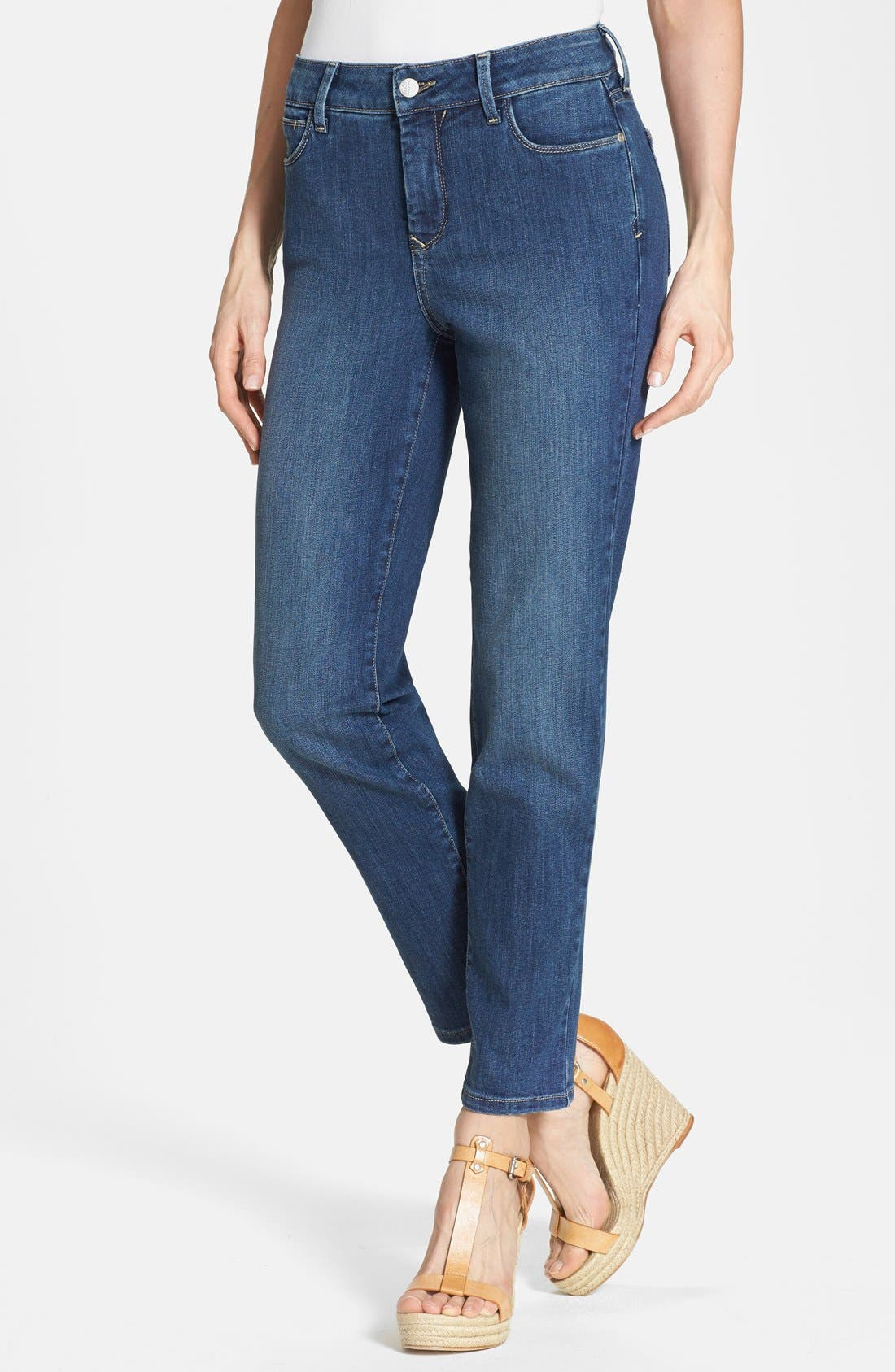 Alternate Image 1 Selected - NYDJ 'Clarissa' Stretch Ankle Skinny Jeans (Pittsburgh) (Petite)