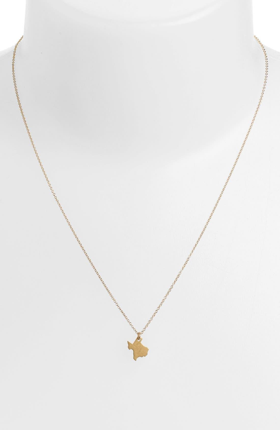 Alternate Image 2  - Dogeared 'Reminder - I Heart Texas' Pendant Necklace