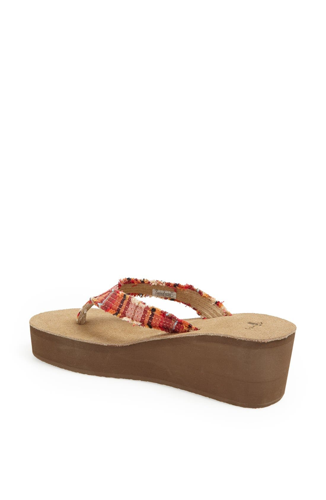 Alternate Image 2  - Sanuk 'Fraidy Cat' Wedge Flip Flop