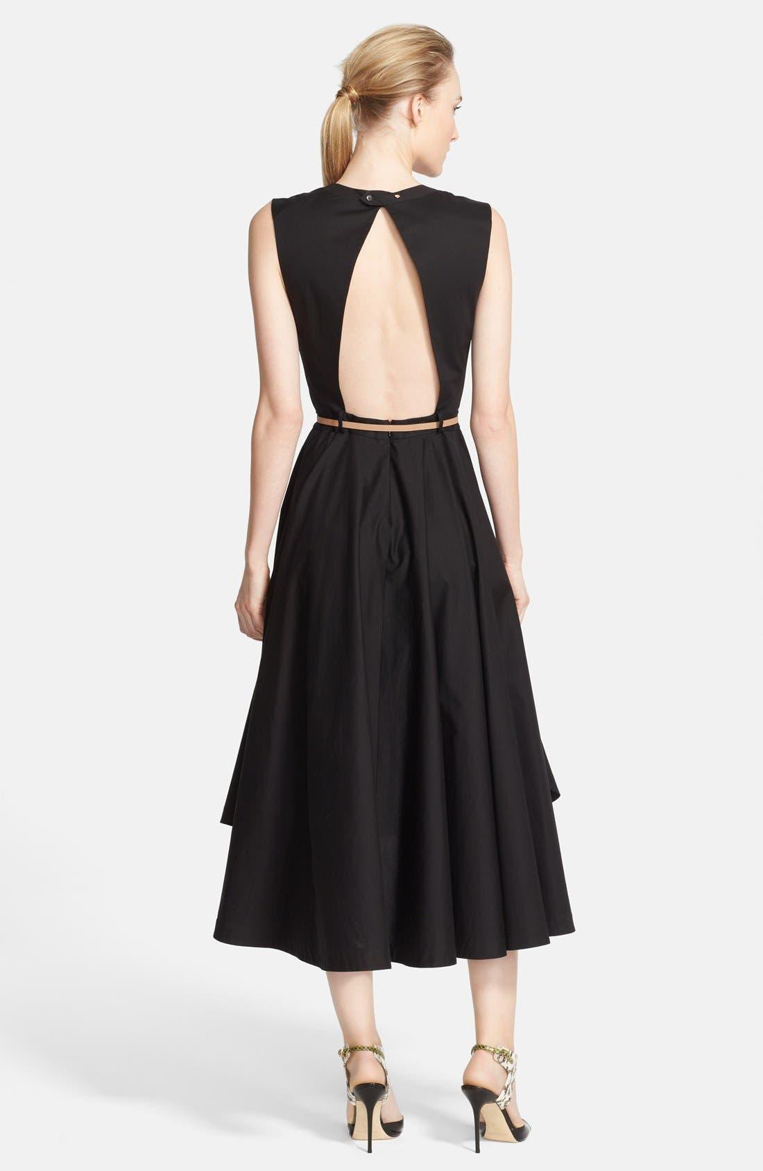 Alternate Image 2  - Robert Rodriquez Open Back Belted Fit & Flare Dress