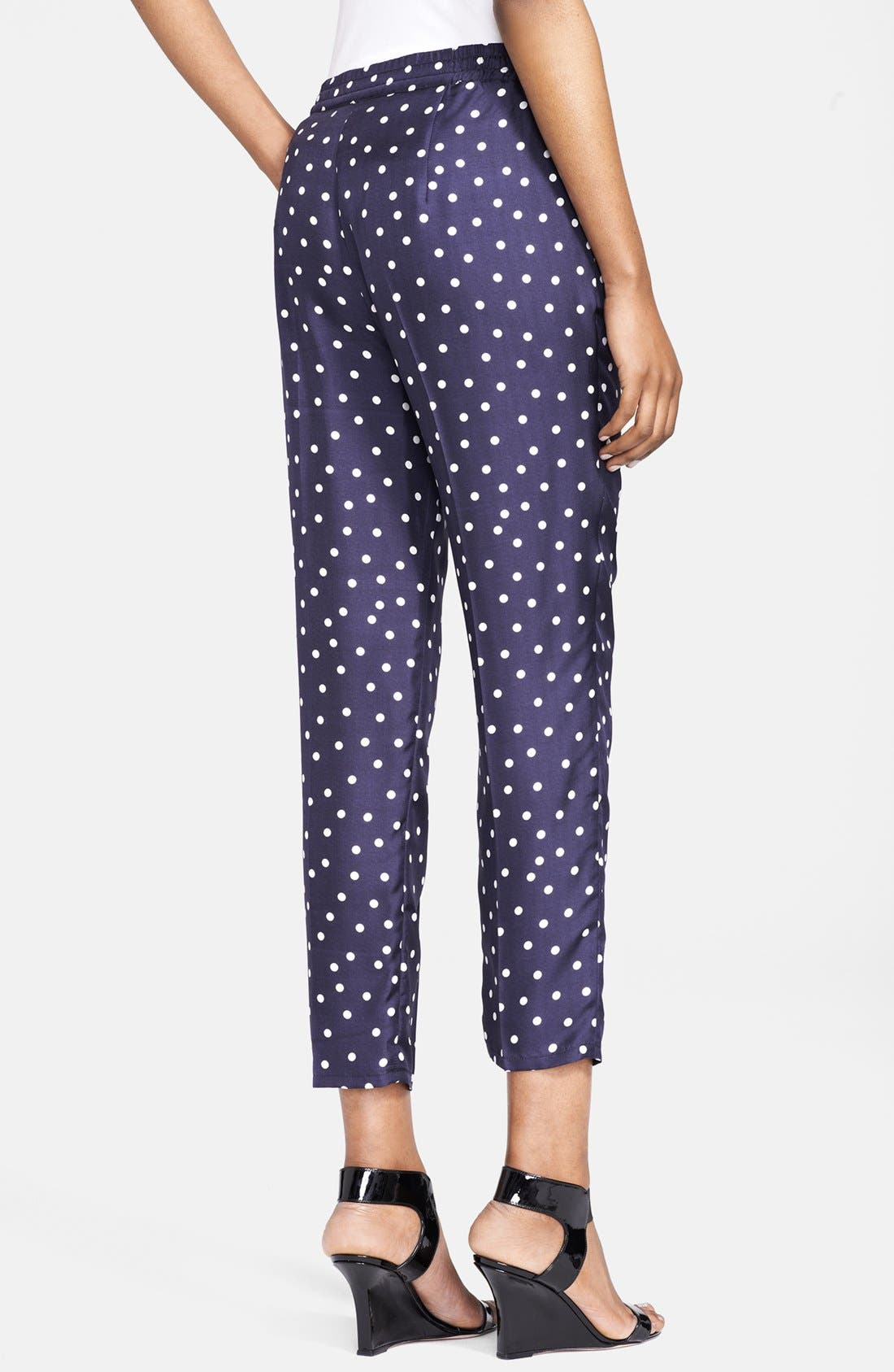 Alternate Image 2  - Max Mara 'Aligi' Polka Dot Silk Pants
