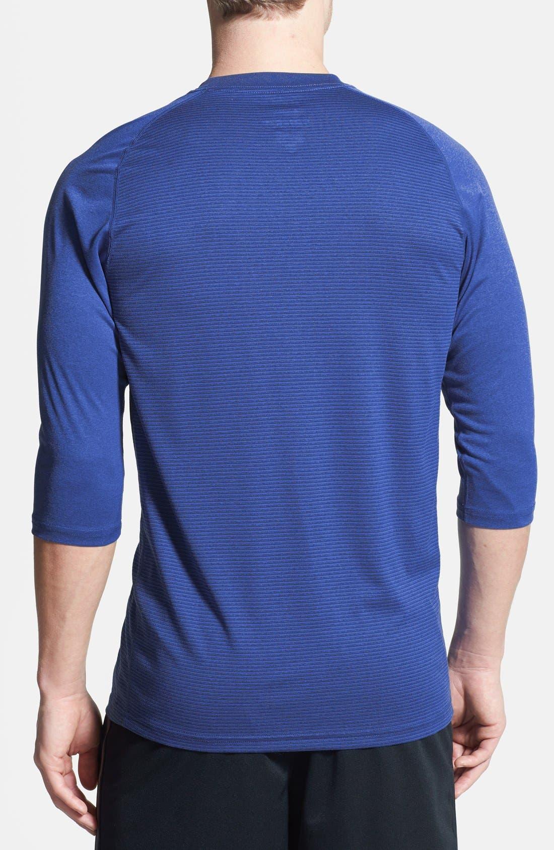 Alternate Image 2  - Nike Dri-FIT Three Quarter Length Raglan Sleeve T-Shirt