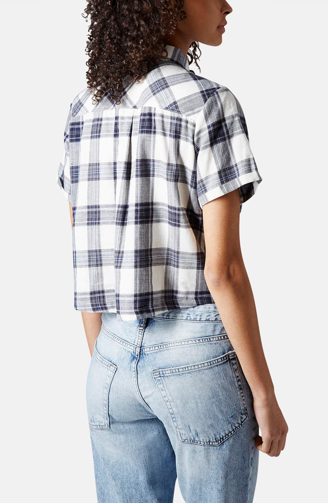 Alternate Image 2  - Topshop 'Emily' Check Print Cotton Shirt