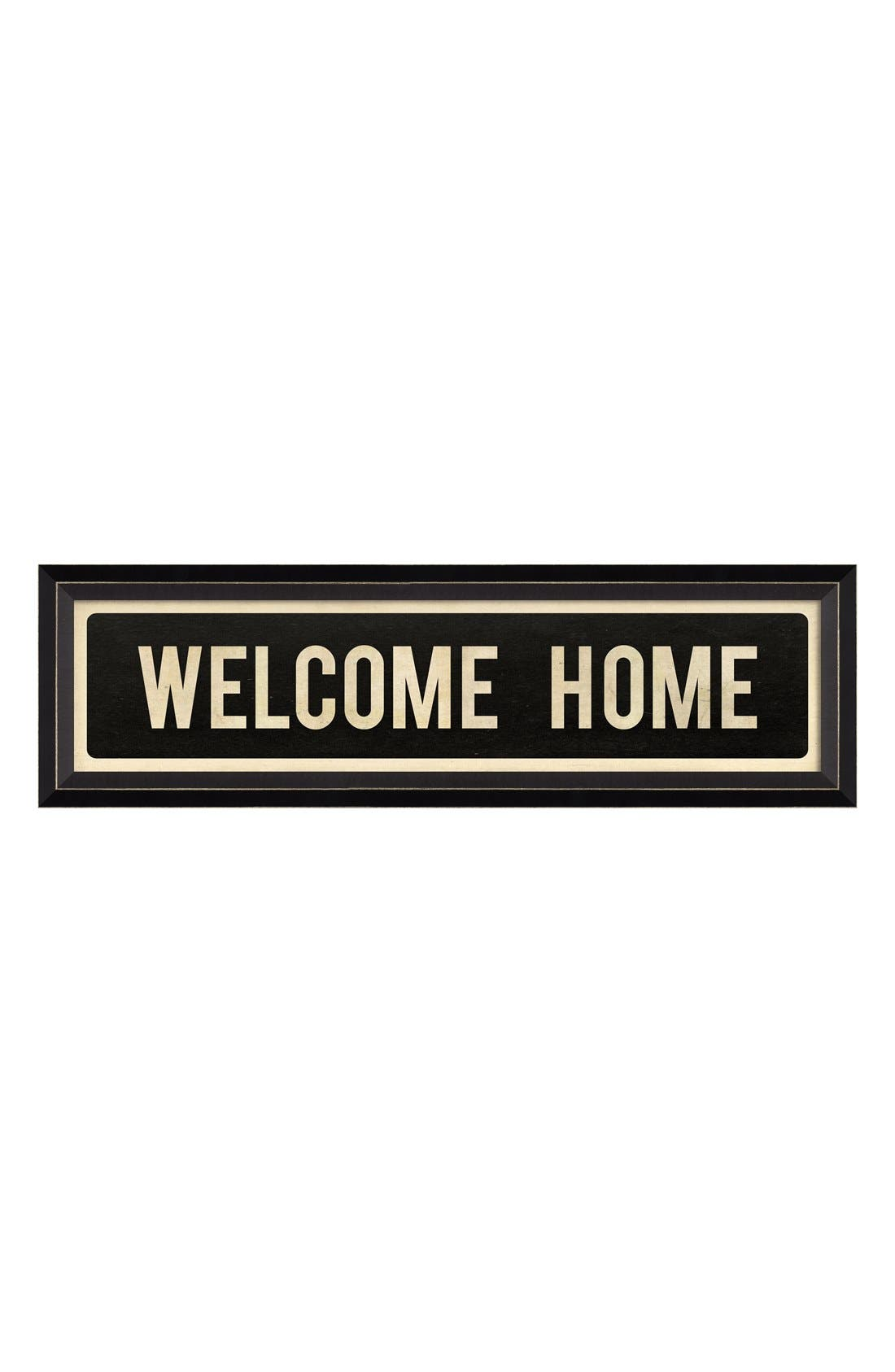 Alternate Image 1 Selected - Spicher and Company 'Welcome Home' Vintage Look Sign Artwork