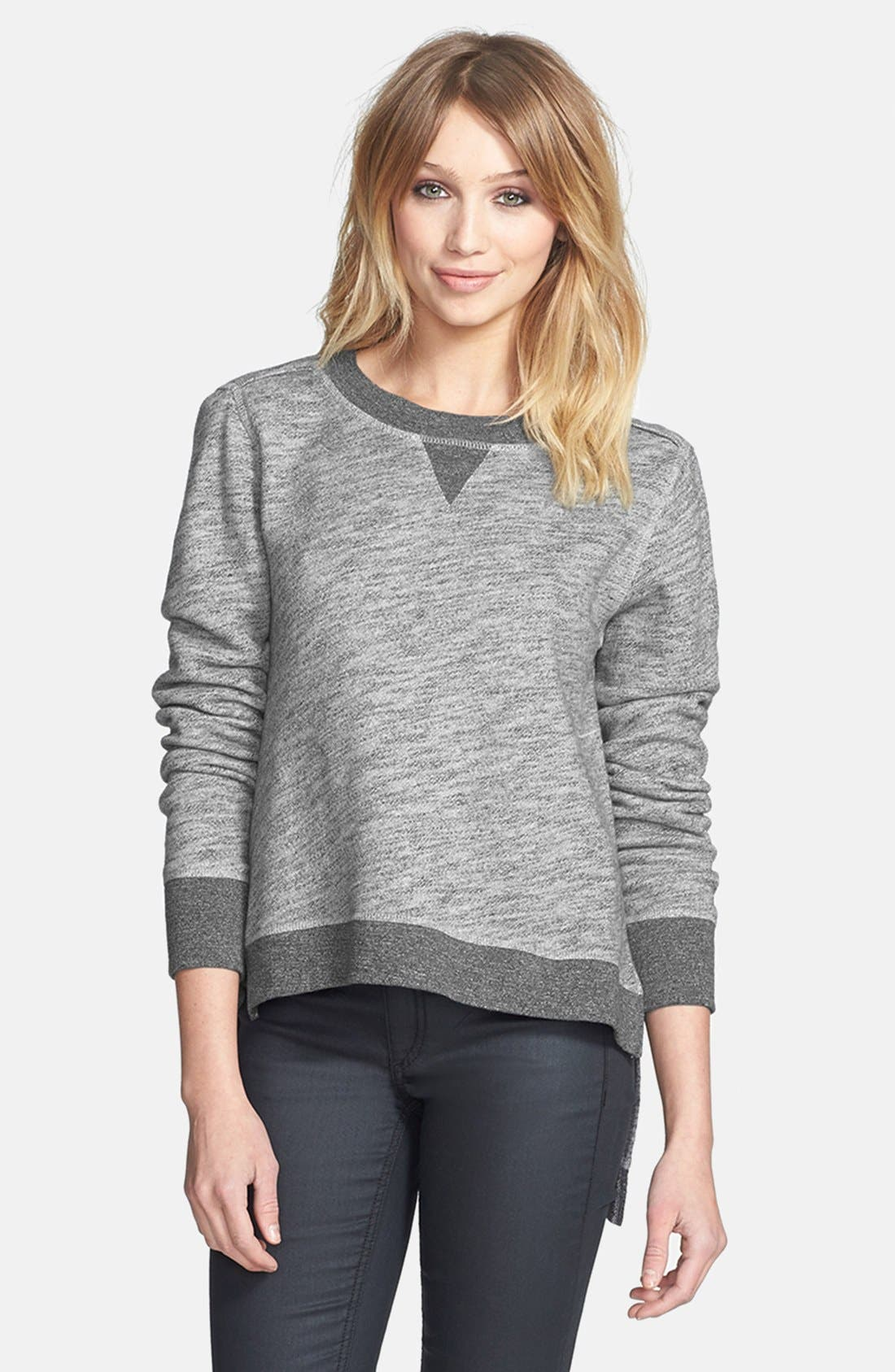 Main Image - rag & bone/JEAN High/Low Cotton Sweatshirt