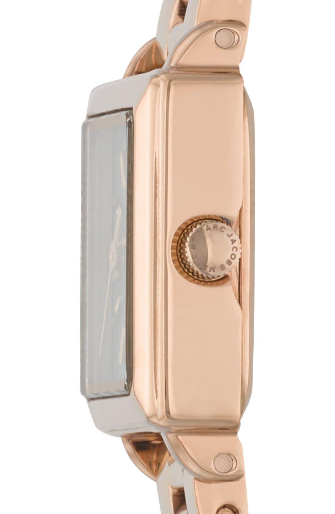 Alternate Image 3  - MARC JACOBS 'Katherine' Square Dial Bracelet Watch, 19mm