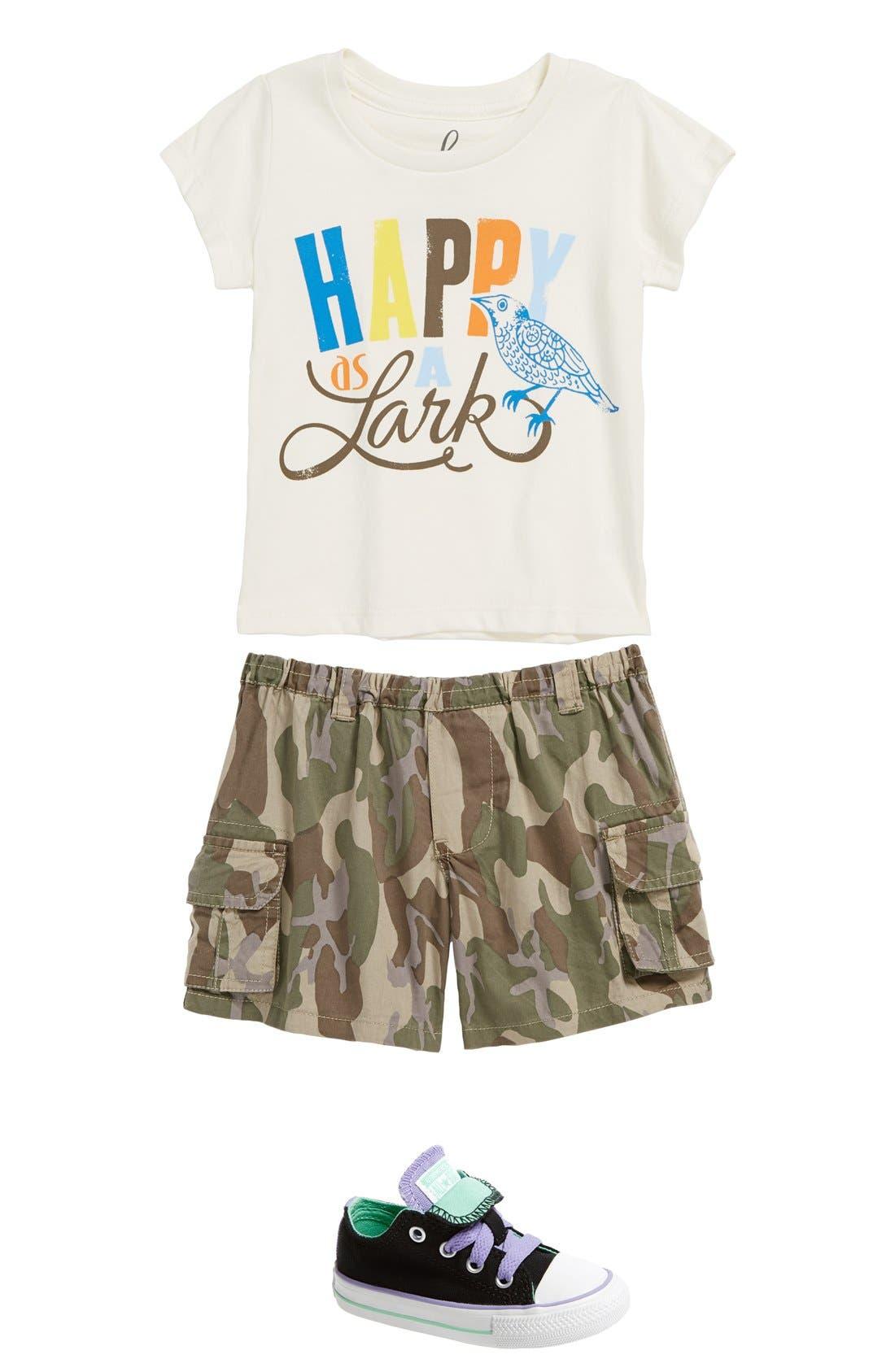 Main Image - Peek T-Shirt & Cargo Shorts & Converse Sneaker
