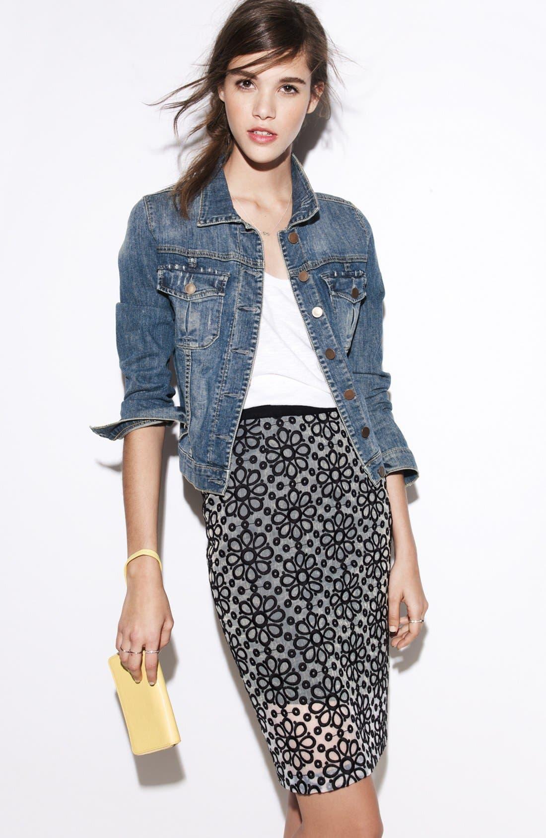 Alternate Image 4  - Halogen® Daisy Organza Skirt