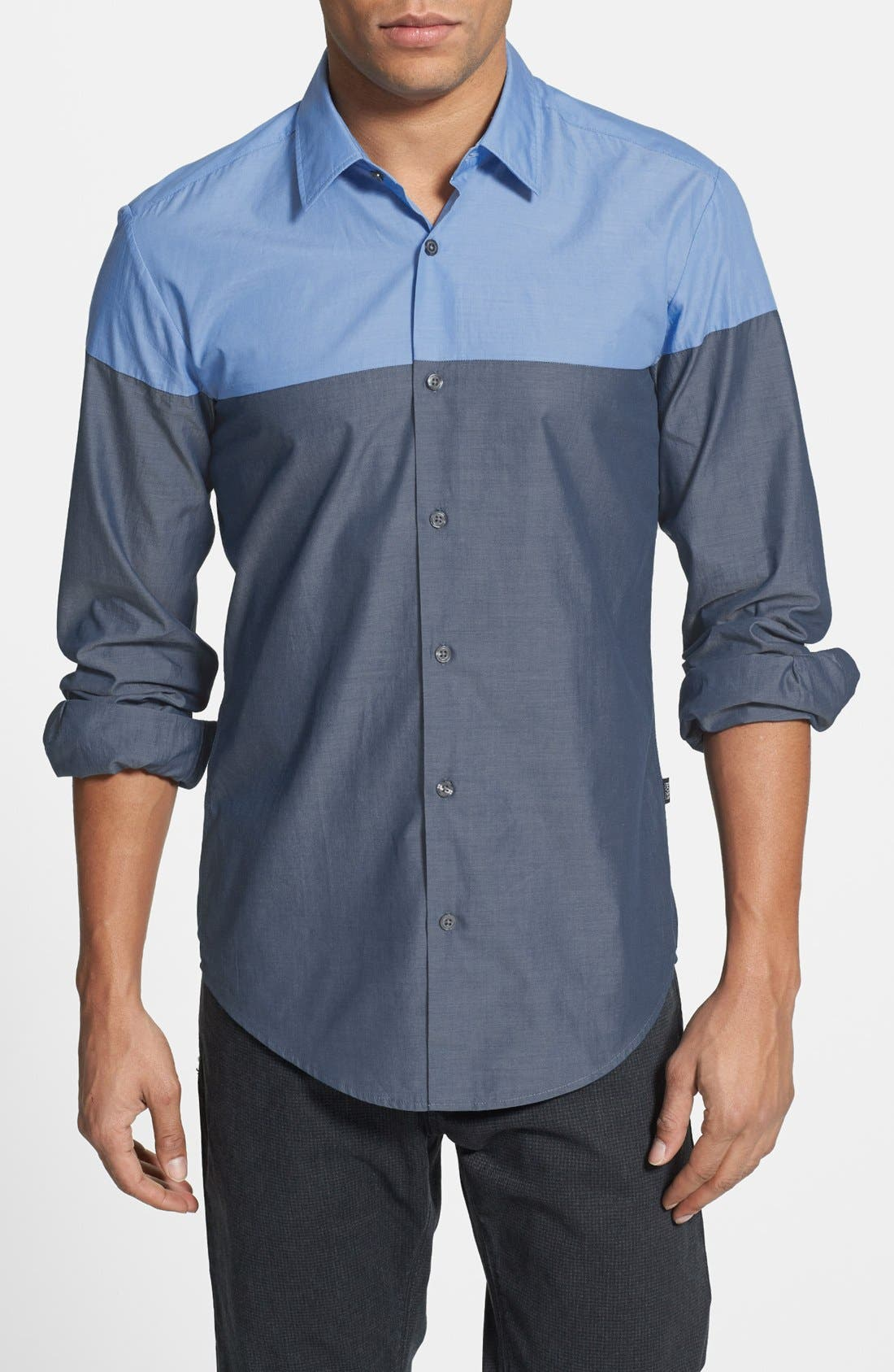 Main Image - BOSS HUGO BOSS 'Ronny' Colorblock Sport Shirt