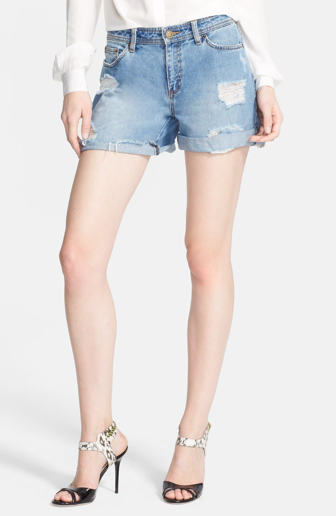 Alternate Image 1 Selected - Rachel Zoe 'Jocelyn' Destroyed Boyfriend Jean Shorts