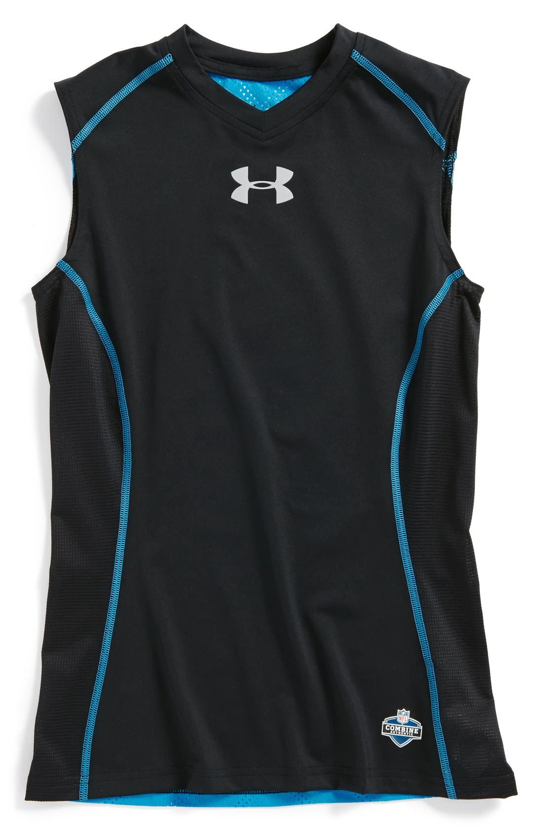 Alternate Image 1 Selected - Under Armour 'NFL Combine Authentic' Sleeveless T-Shirt (Big Boys)