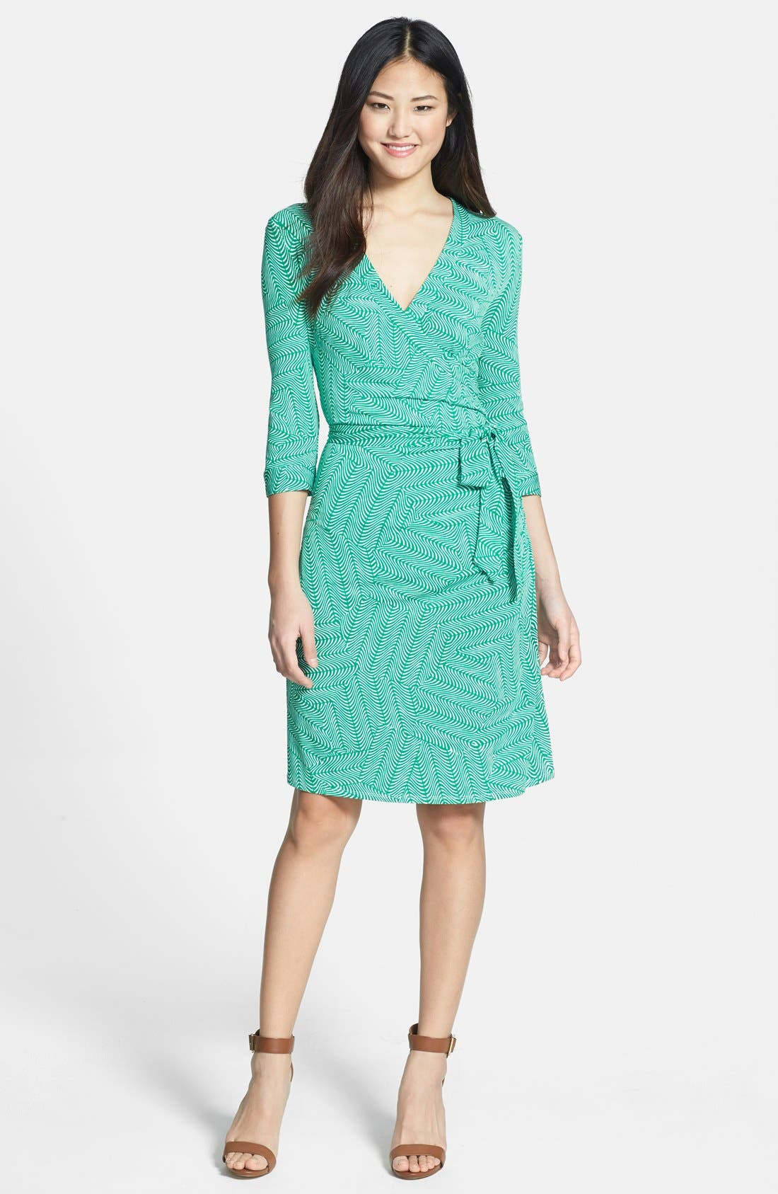 Alternate Image 2  - Laundry by Shelli Segal Print Jersey Faux Wrap Dress