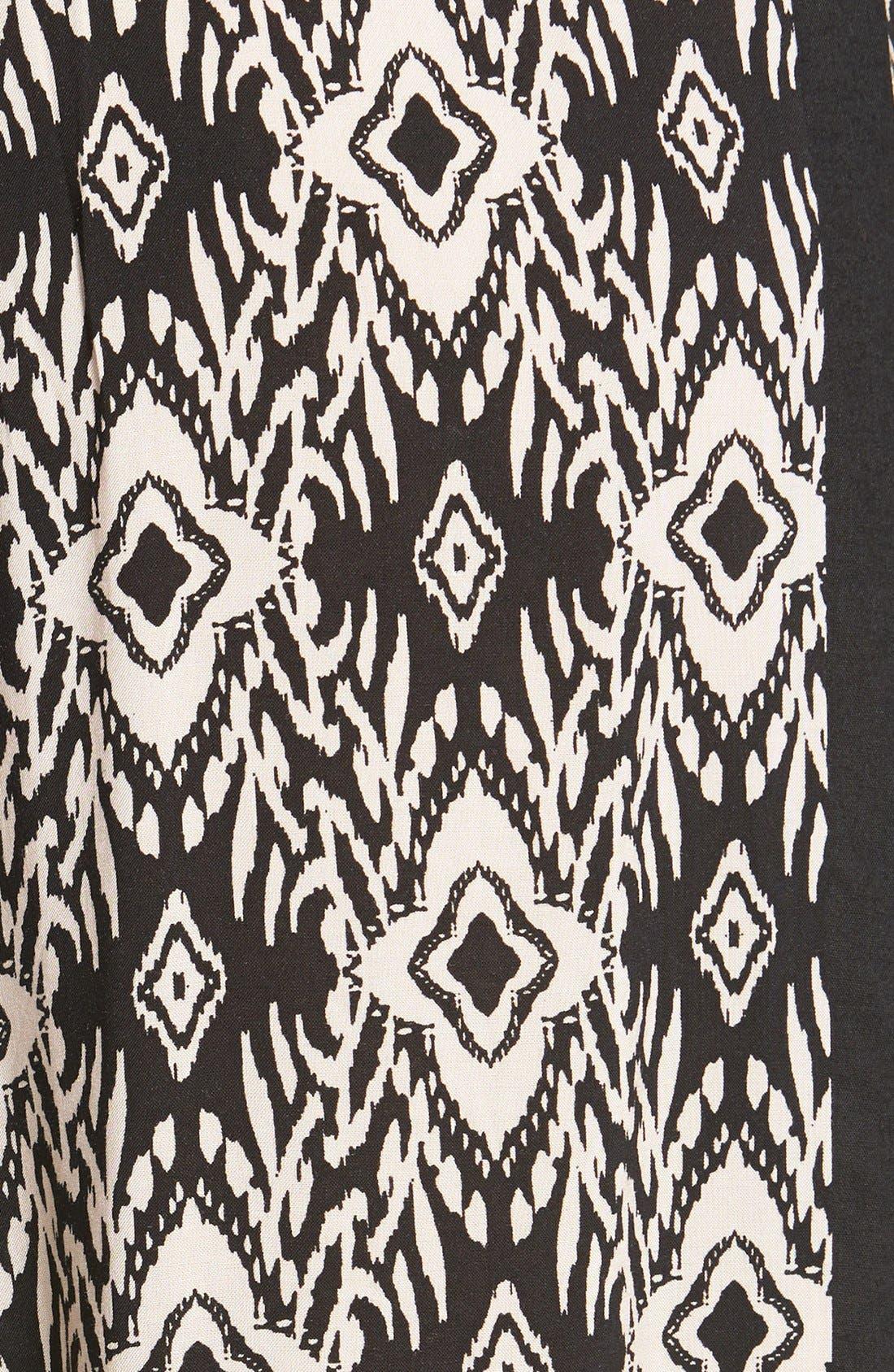 Alternate Image 3  - Socialite Tux Stripe Palazzo Pants (Juniors)