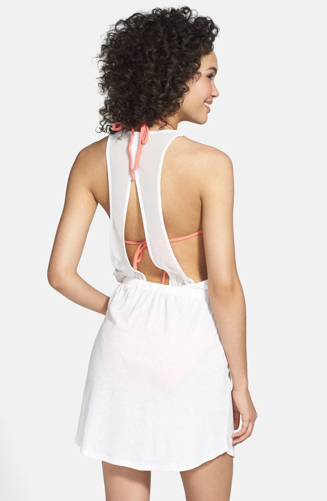 Alternate Image 2  - BP. Undercover 'Barely There' Cover-Up Dress (Juniors)