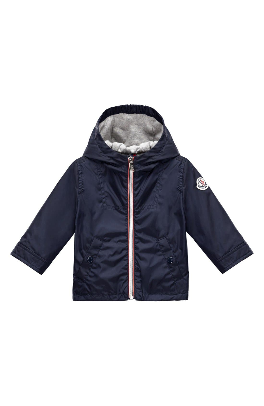 Alternate Image 1 Selected - Moncler Hooded Jacket (Baby Boys)