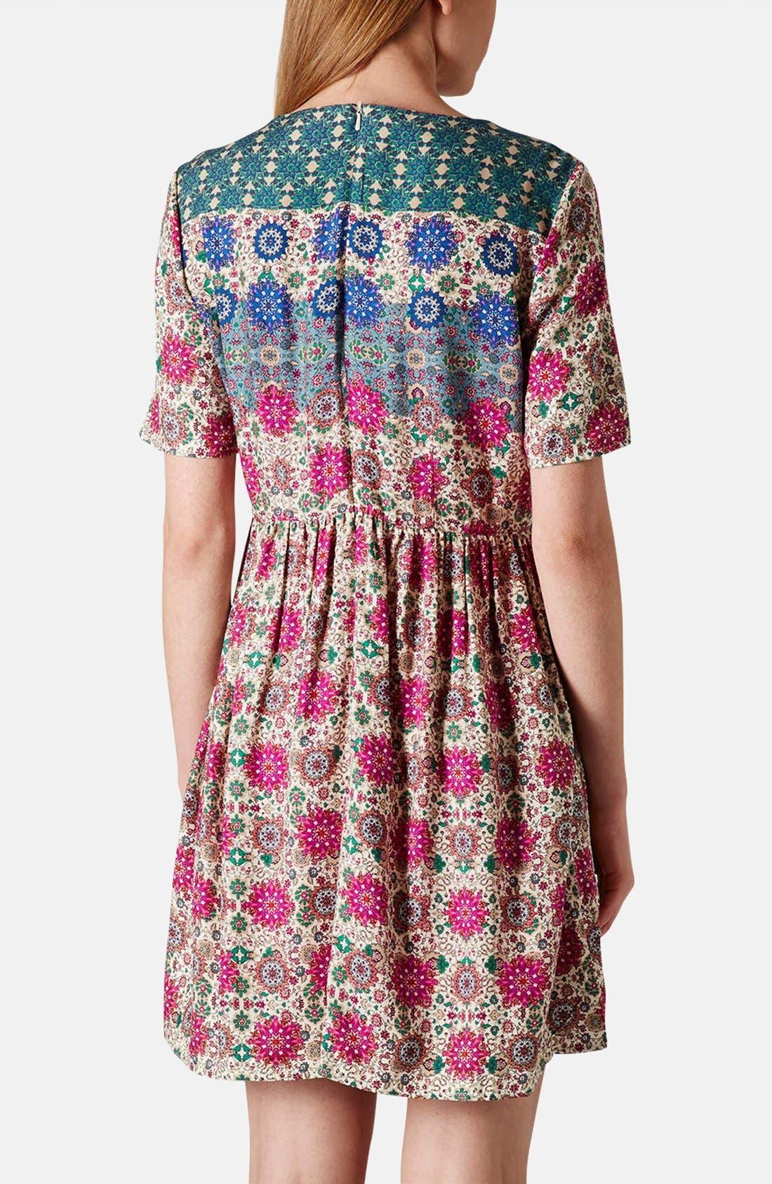 Alternate Image 2  - Topshop 'Folk Border' Print Day Dress