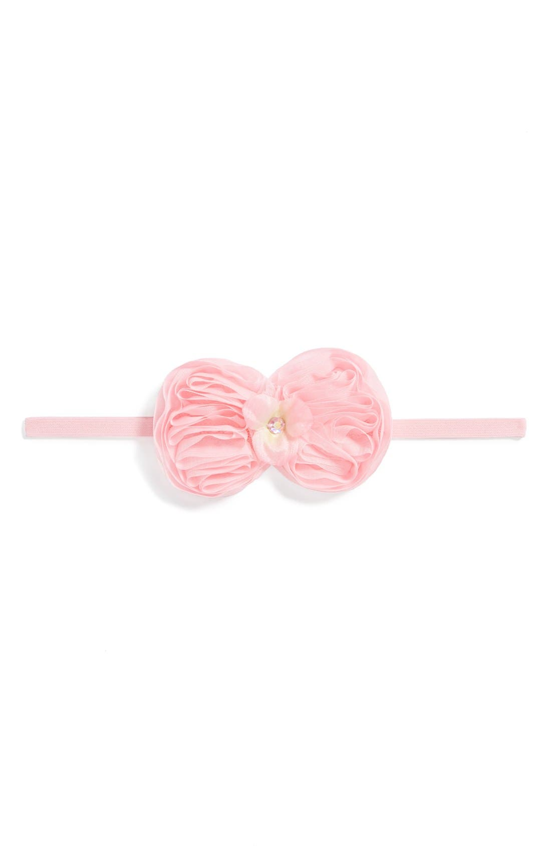 Alternate Image 1 Selected - PLH Bows & Laces 'Bowtie' Headband (Baby Girls & Toddler Girls)