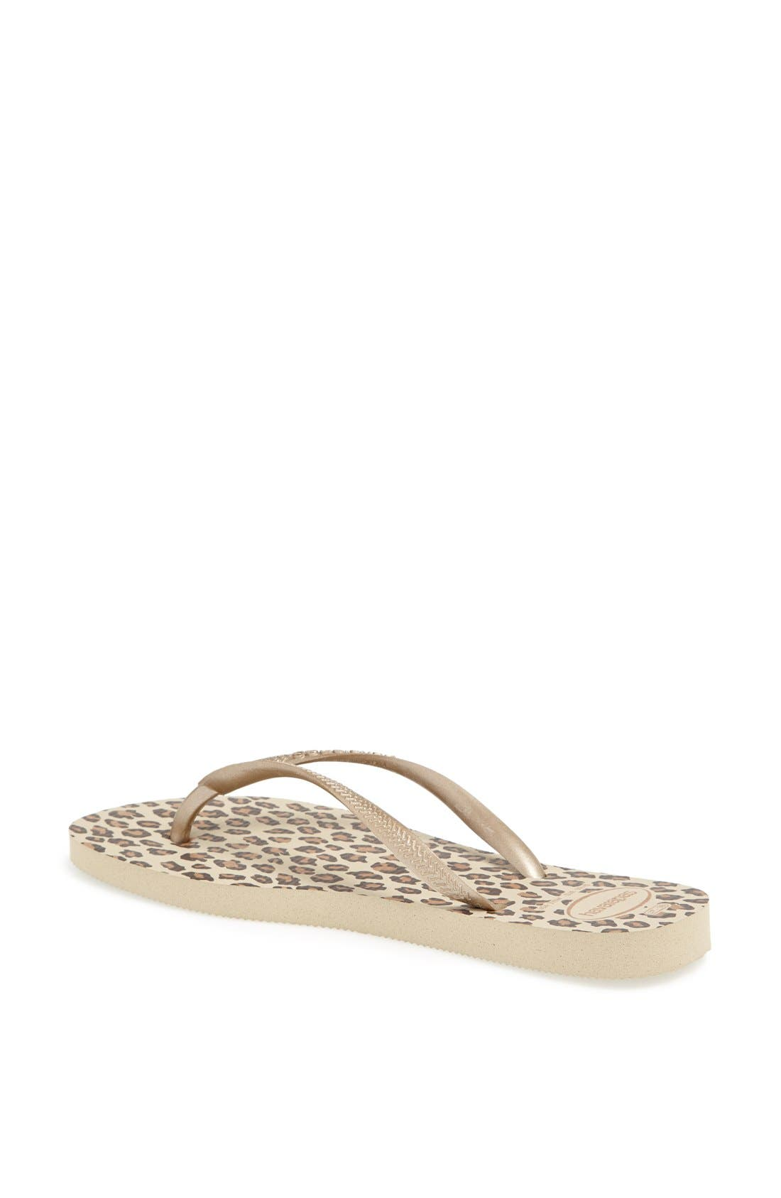 Alternate Image 2  - Havaianas 'Slim Animal Print' Flip Flop (Women)