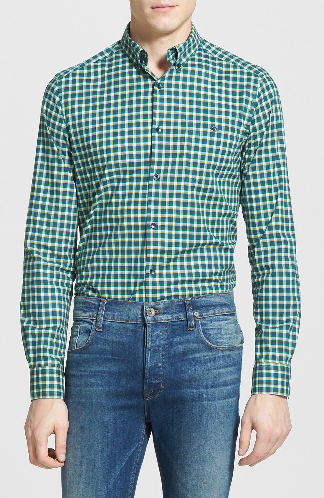 Alternate Image 1 Selected - Kenneth Cole Collection Check Print Sport Shirt
