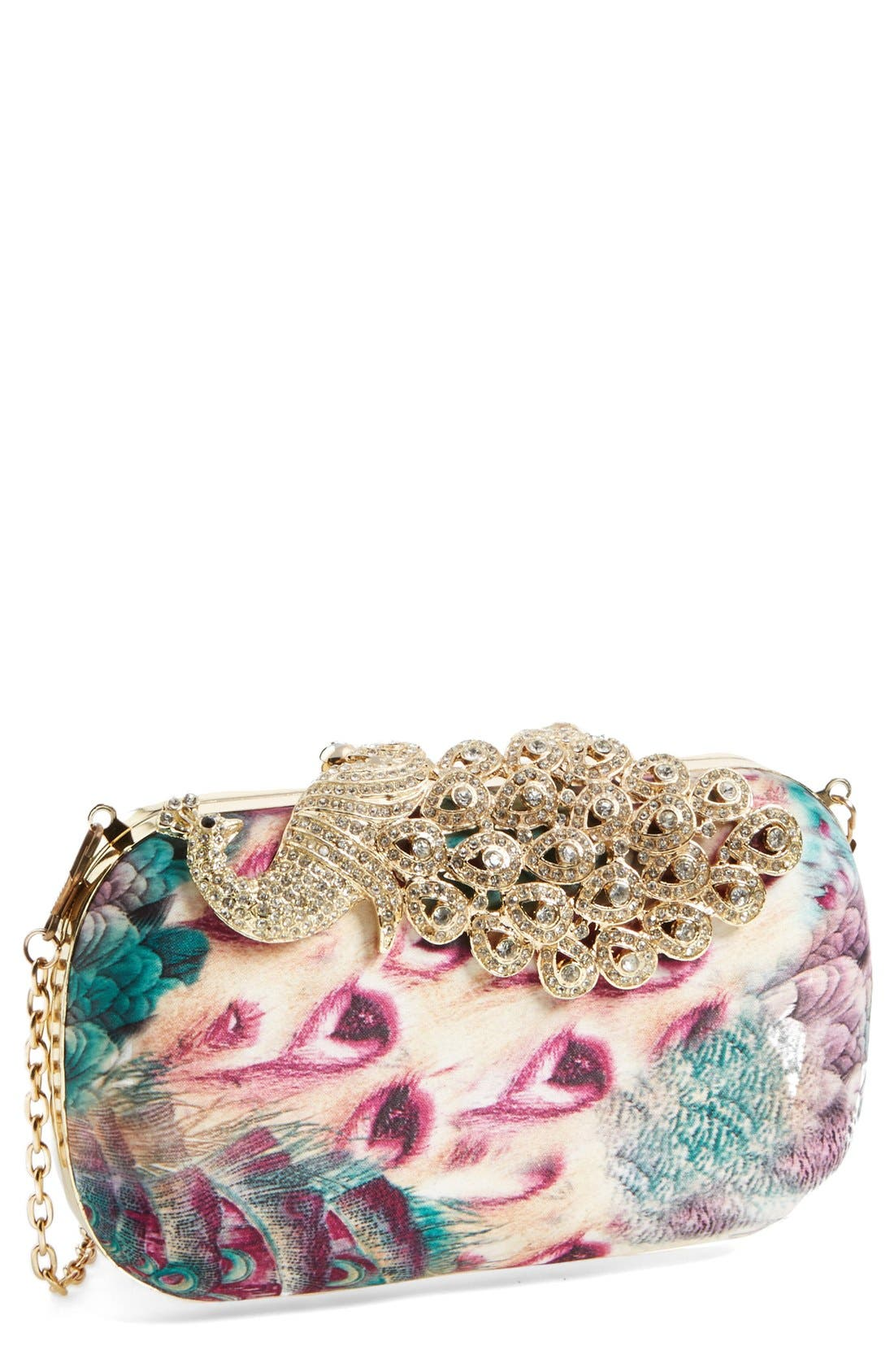 Alternate Image 1 Selected - Natasha Couture Peacock Minaudiere