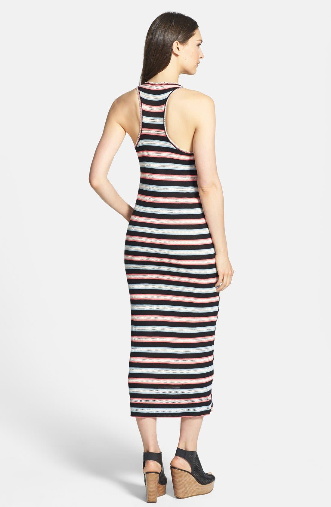 Alternate Image 2  - MARC BY MARC JACOBS 'Miriam' Mesh Stripe Racerback Maxi Dress