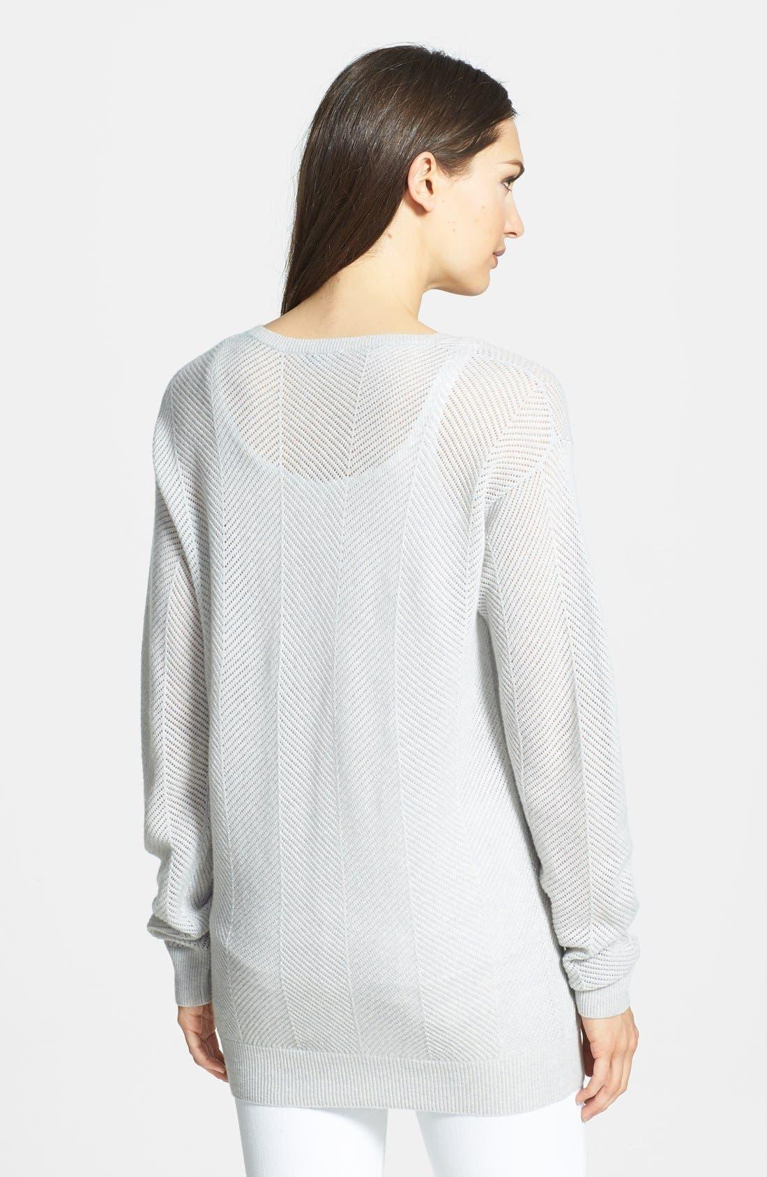 Alternate Image 2  - Theory 'Dreamerly E.' Open Knit Sweater