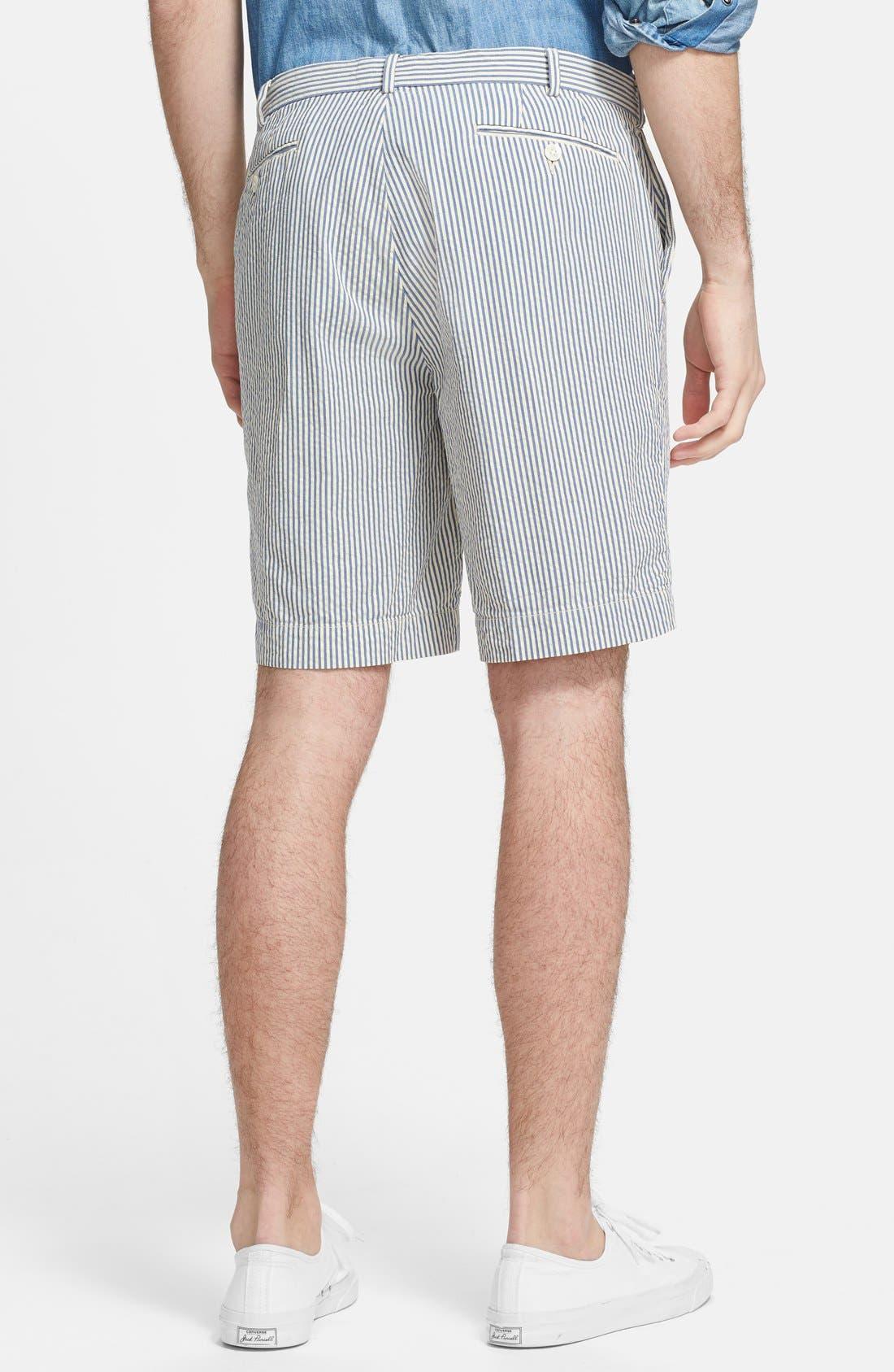 Alternate Image 2  - Polo Ralph Lauren Straight Fit Cotton Seersucker Shorts