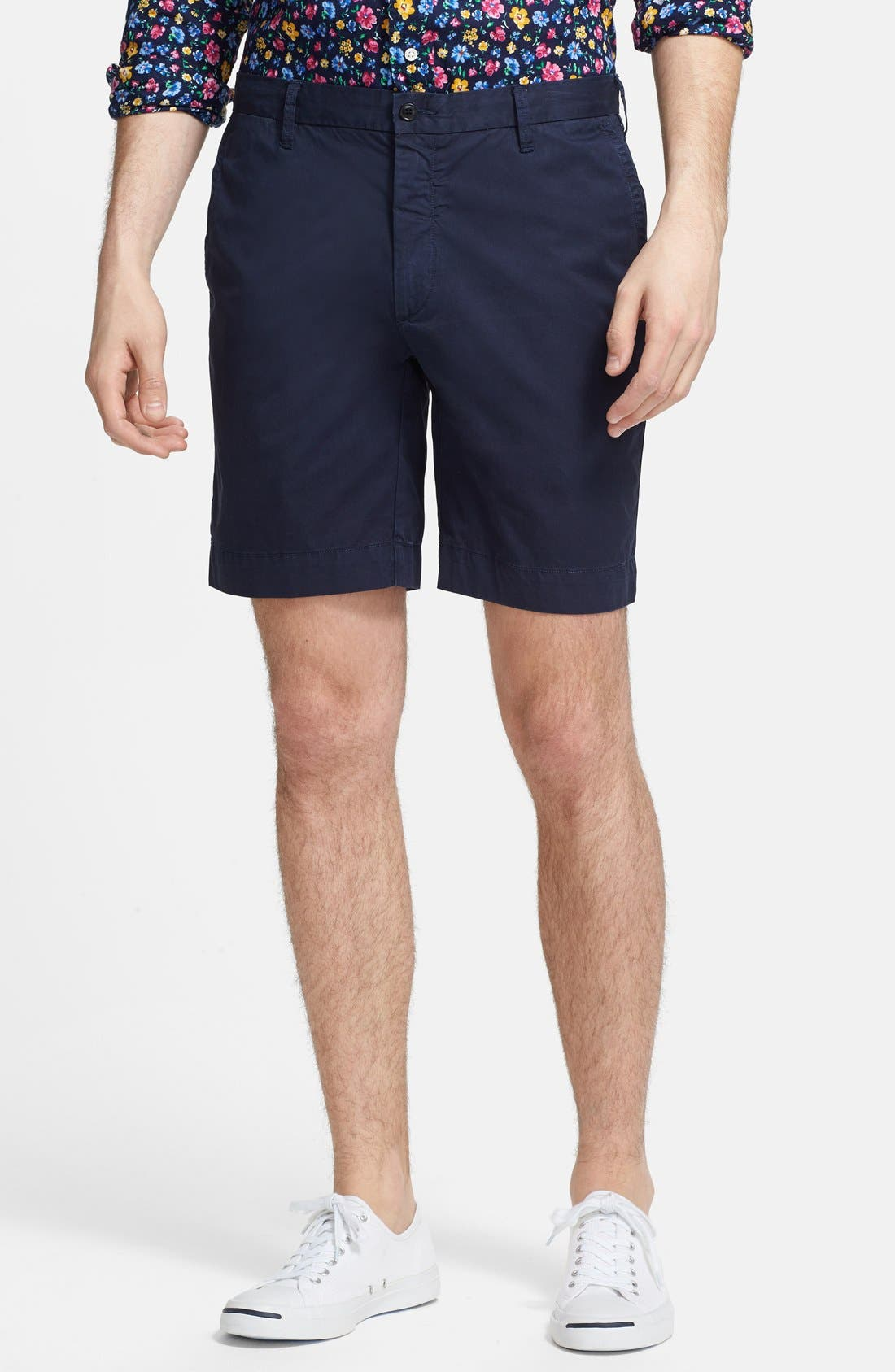 Alternate Image 1 Selected - Polo Ralph Lauren 'Hudson' Flat Front Classic Fit Chino Shorts