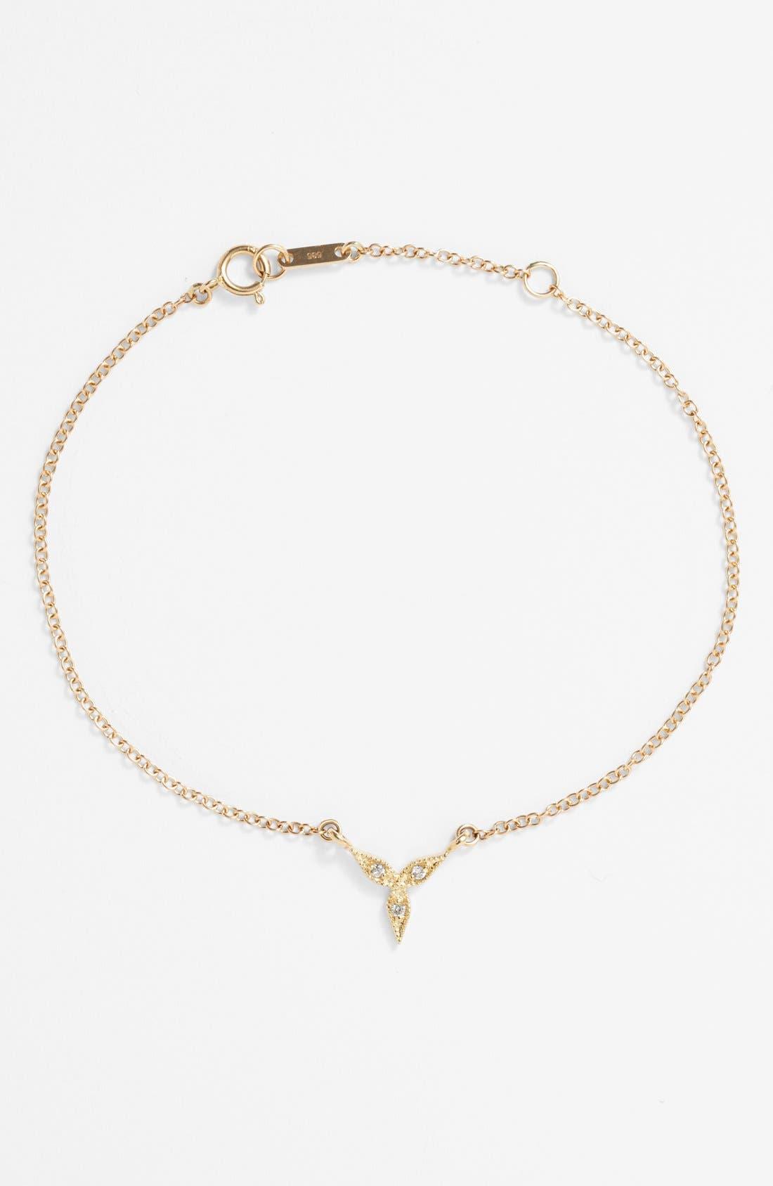 Alternate Image 1 Selected - Mizuki 'Sea of Beauty' Diamond Station Bracelet