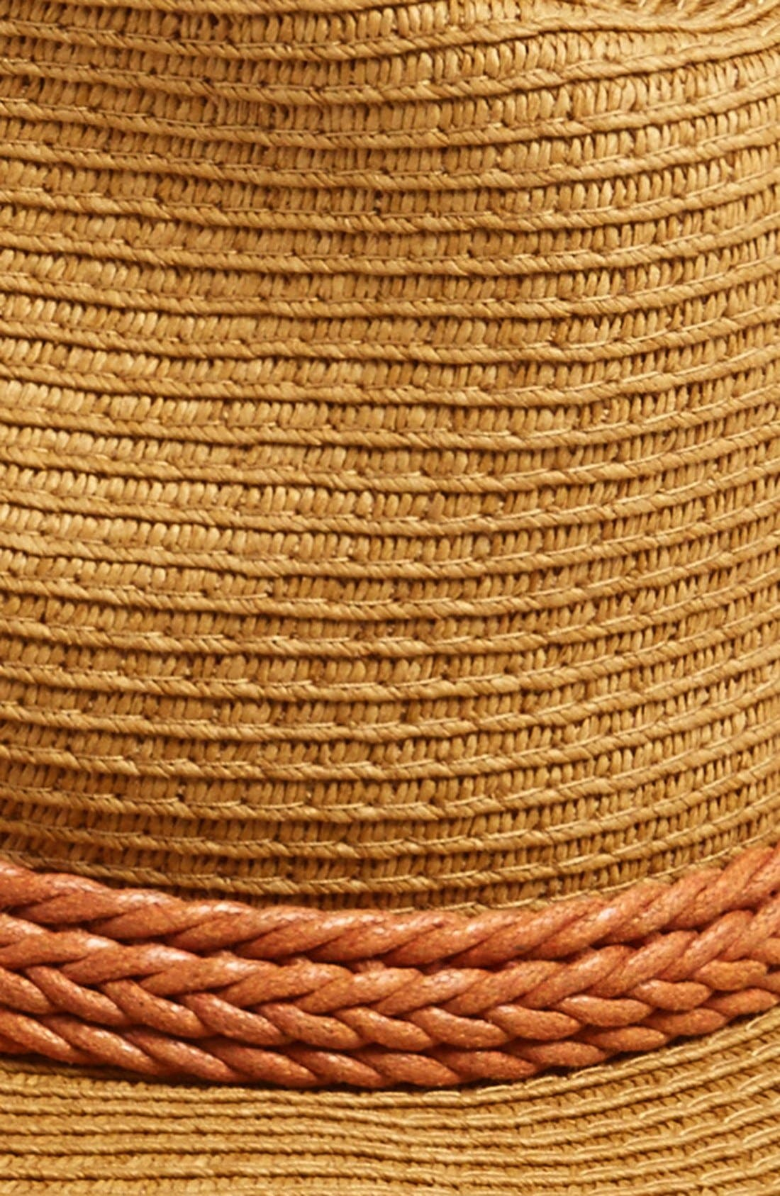 Alternate Image 2  - David & Young Wide Brim Straw Hat (Juniors) (Online Only)