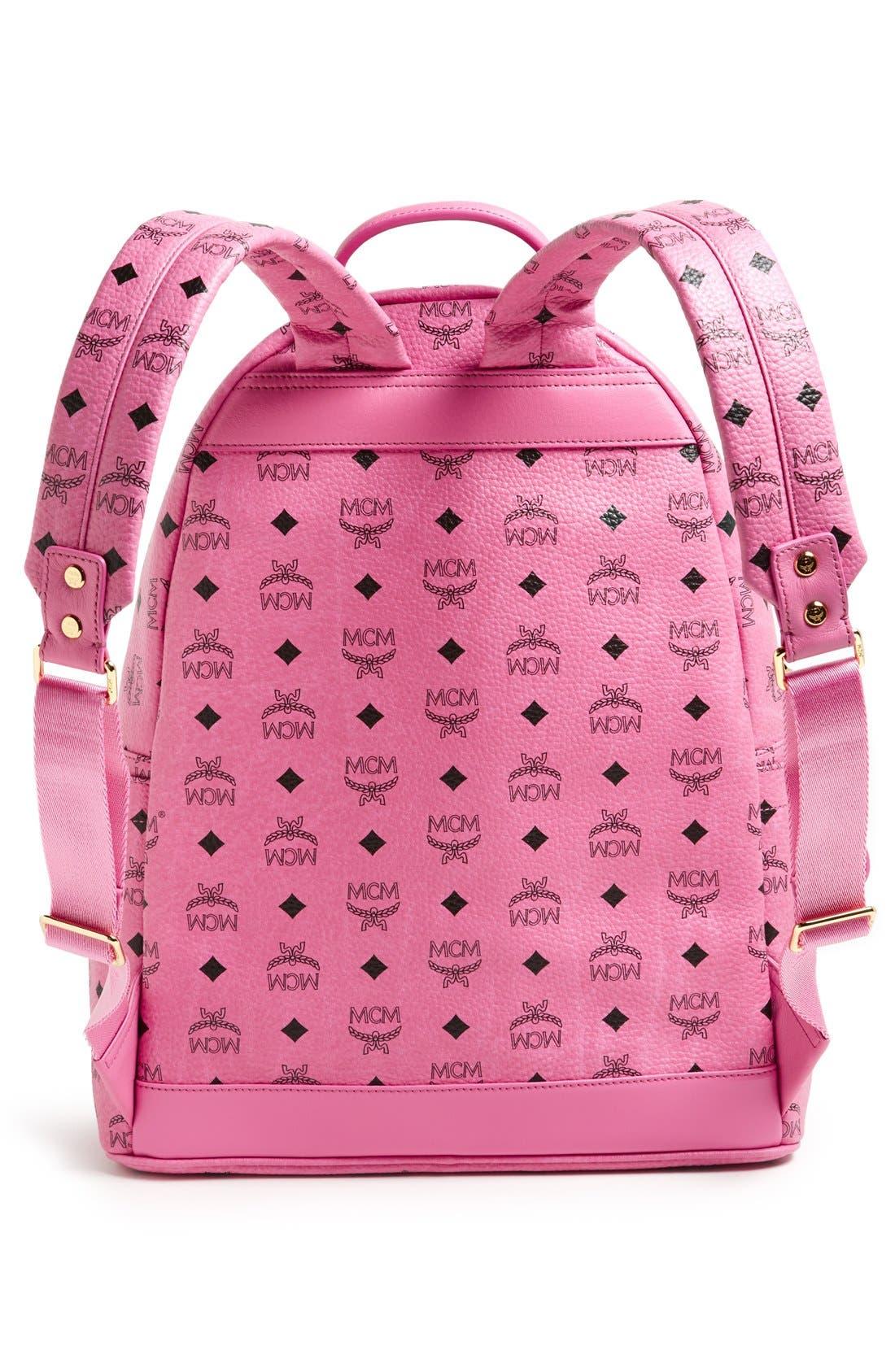 Alternate Image 4  - MCM 'Medium Stark - Visetos' Studded Coated Canvas Backpack