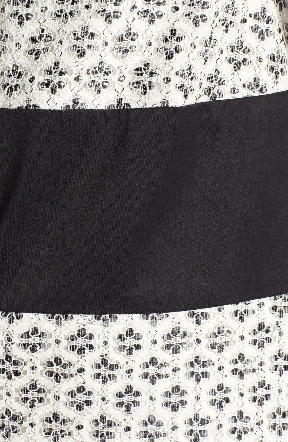 Alternate Image 4  - Ivy & Blu Mixed Media Stripe Cotton Blend Dress