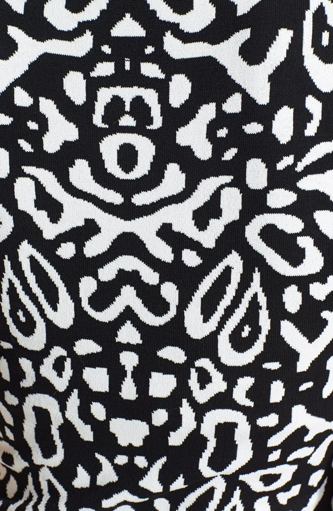 Alternate Image 4  - Felicity & Coco Flounce Hem Jacquard Body-Con Sweater Dress (Regular & Petite) (Nordstrom Exclusive)