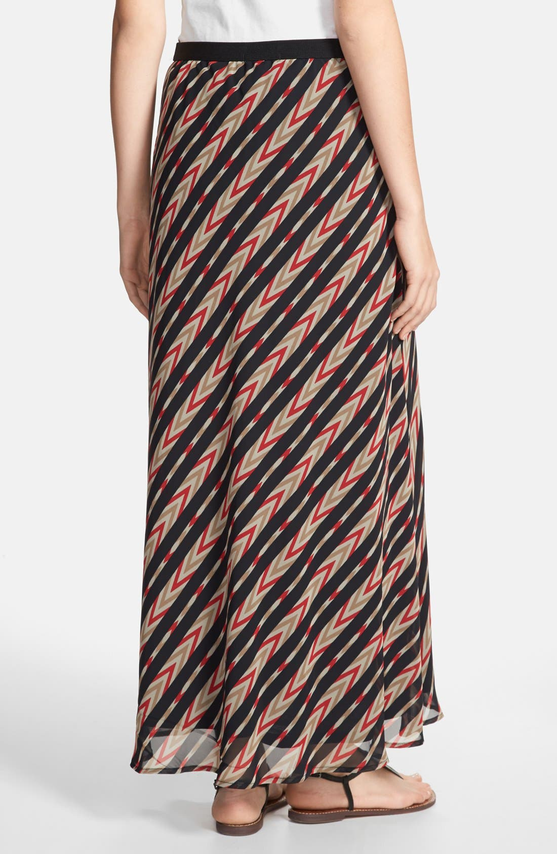 Alternate Image 2  - Pleione Stripe Print Maxi Skirt