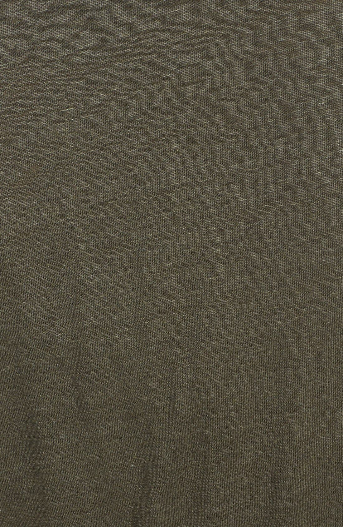 Alternate Image 3  - Halogen® Mixed Media High/Low Maxi Dress (Plus Size)