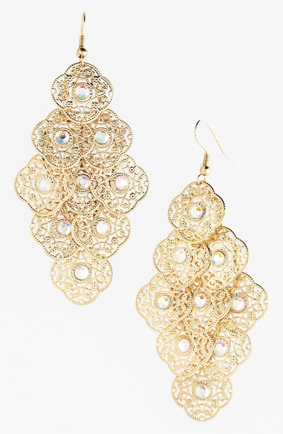 Alternate Image 1 Selected - Carole 'Clover' Chandelier Earrings (Juniors) (Online Only)