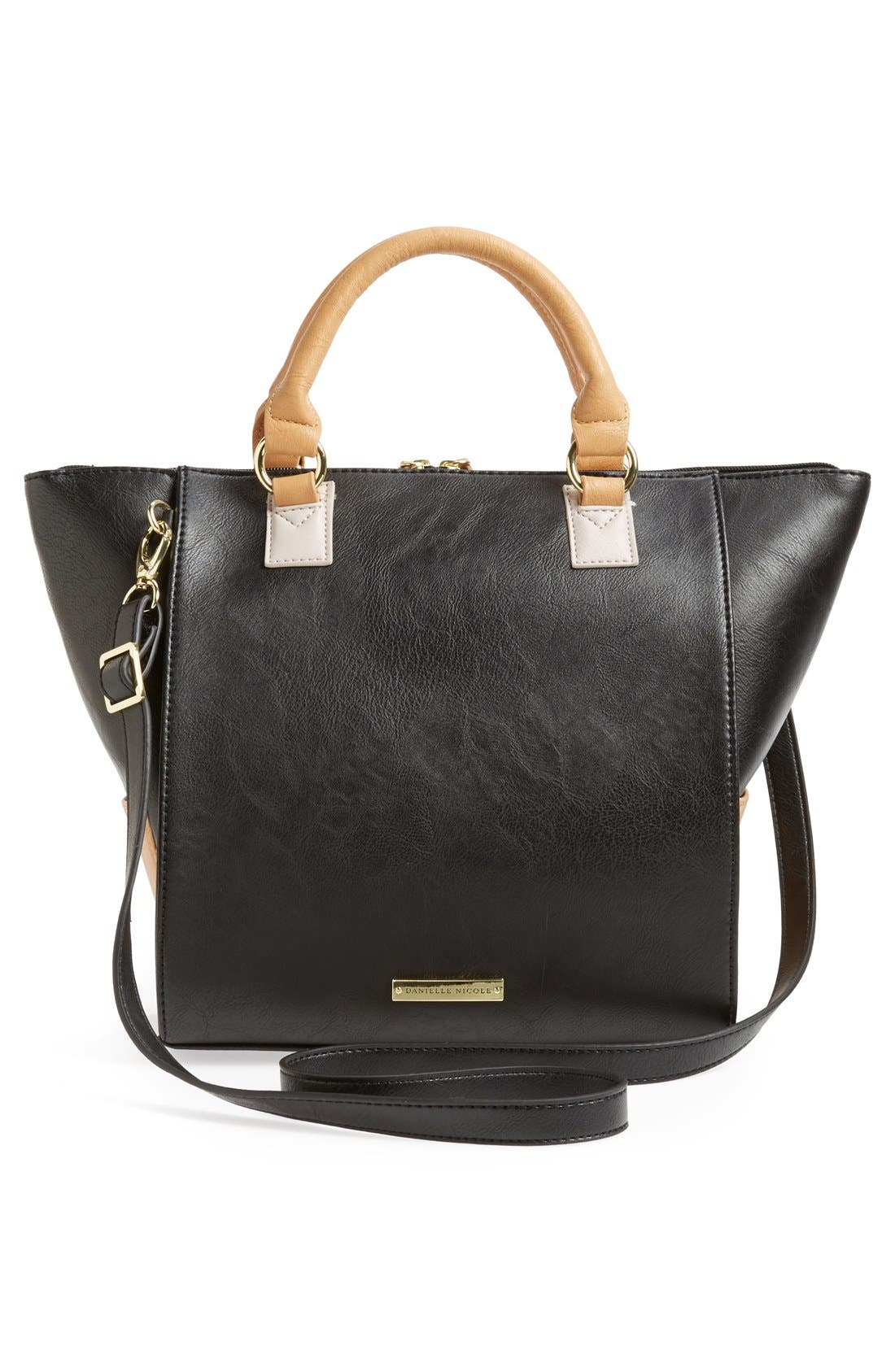 Alternate Image 4  - Danielle Nicole 'Alexa' Faux Leather Satchel