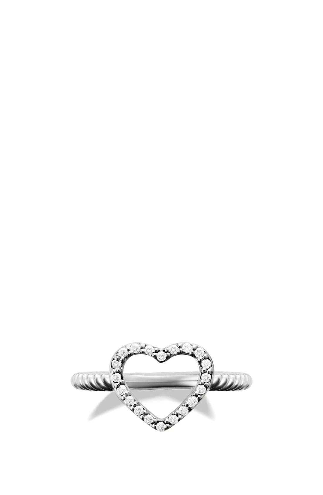 Alternate Image 4  - David Yurman 'Cable Collectibles' Heart Ring with Diamonds