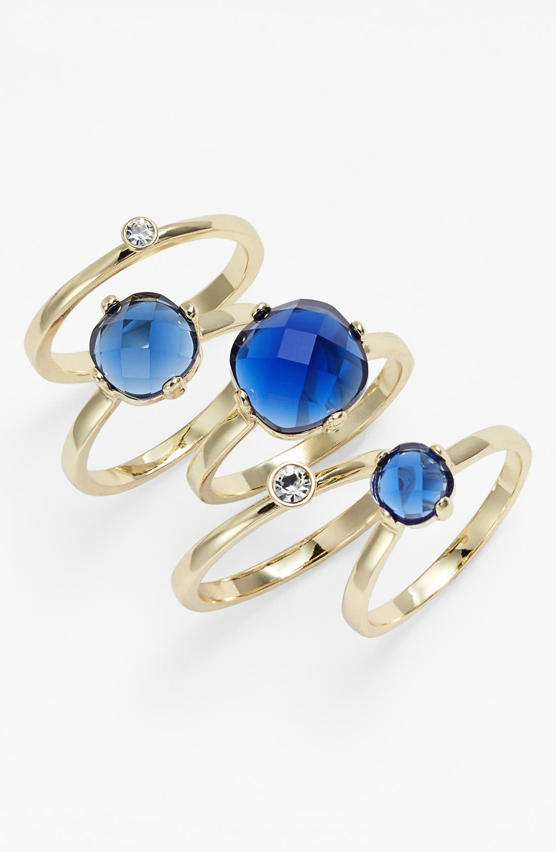 Main Image - Ariella Collection Stackable Rings (Set of 5)