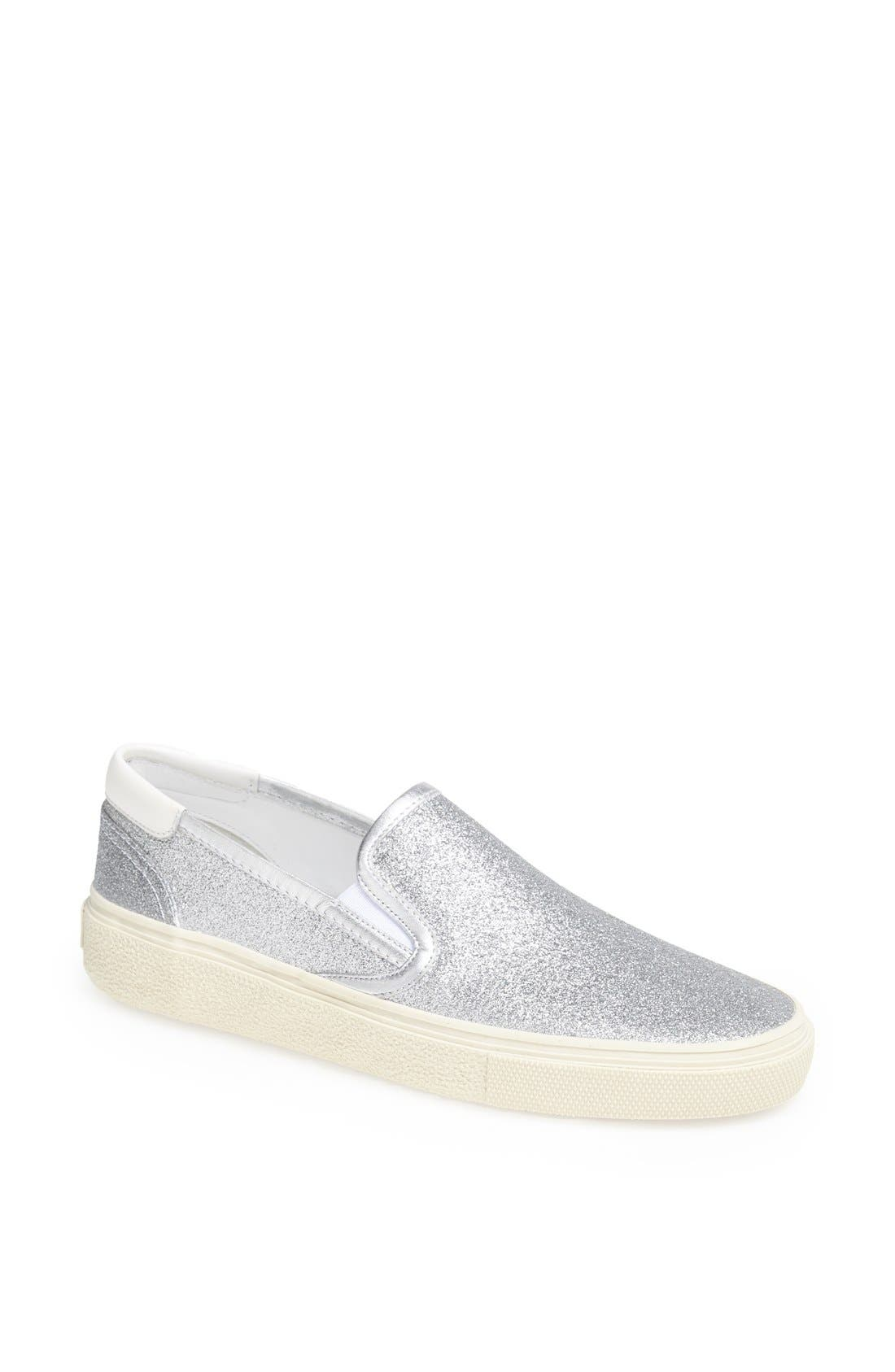 Alternate Image 1 Selected - Saint Laurent 'Skate 20' Glitter Slip-On Sneaker (Women)