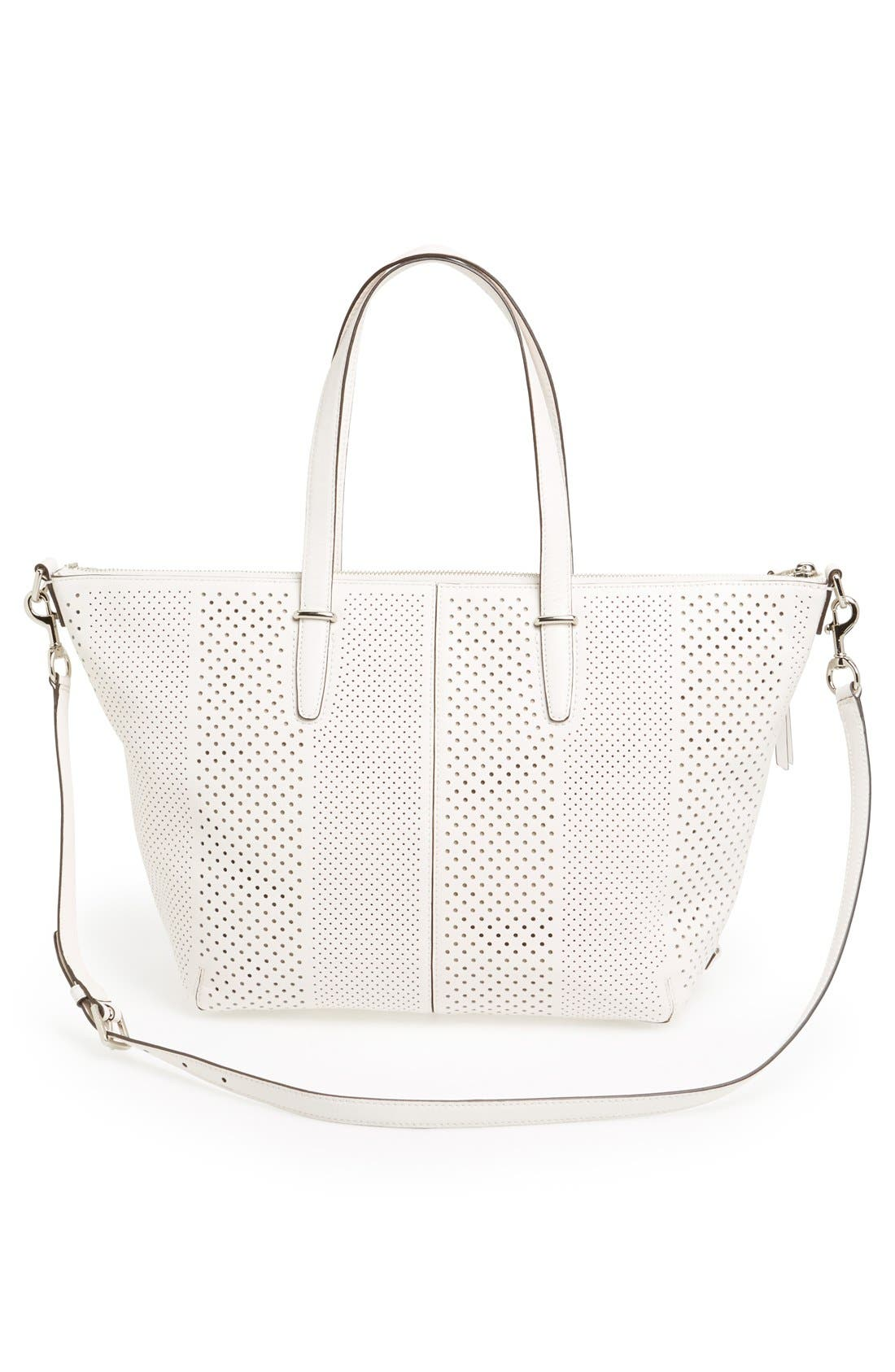 Alternate Image 4  - COACH 'Bleecker' Perforated Leather Satchel