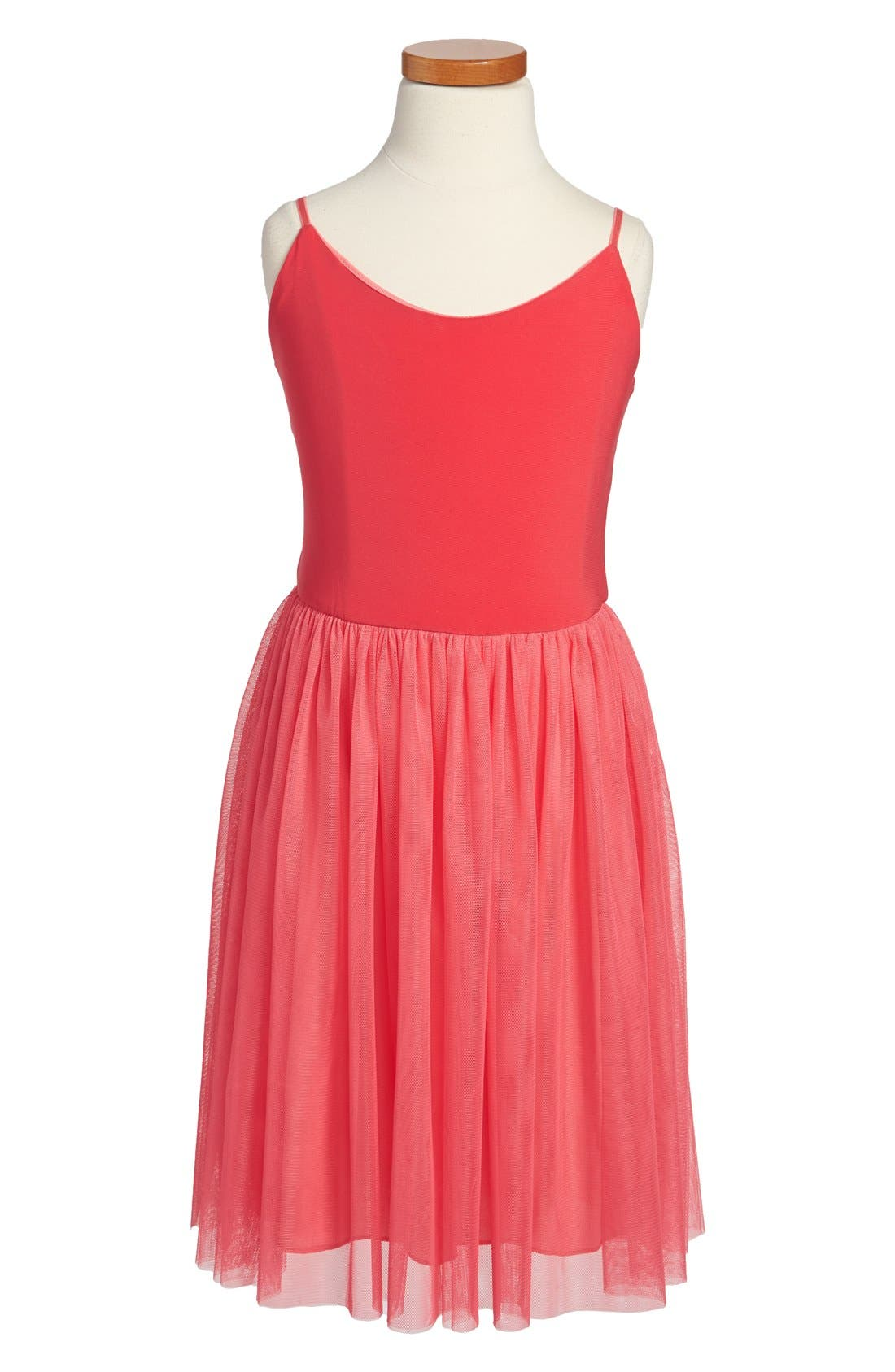 Alternate Image 1 Selected - Un Deux Trois Sleeveless Tulle Dress (Big Girls)