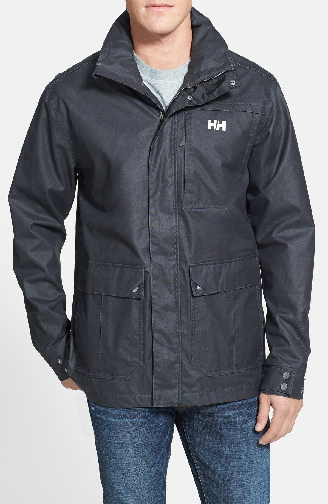 Alternate Image 1 Selected - Helly Hansen 'Robson' Waxed Surface Waterproof & Windproof Jacket