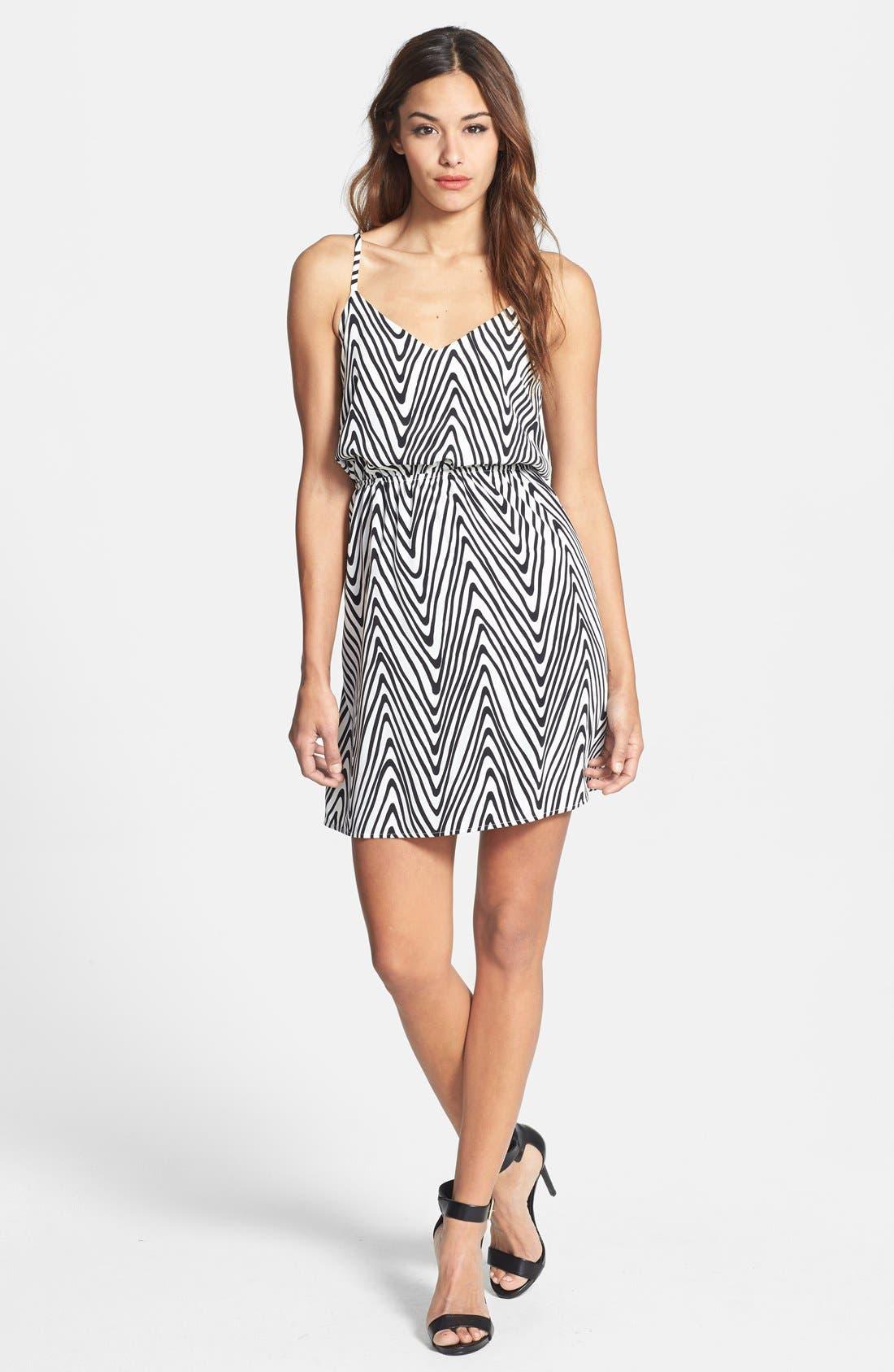 Alternate Image 1 Selected - Dex Zigzag Print Dress