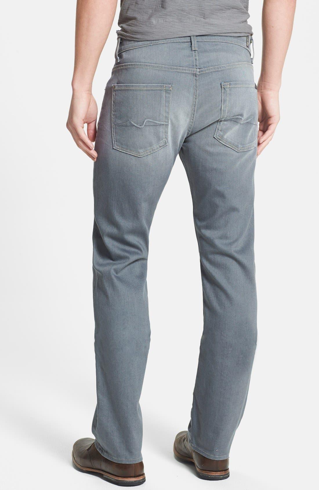 Alternate Image 2  - 7 For All Mankind® 'Carsen' Straight Leg Jeans (Vesper Grey)