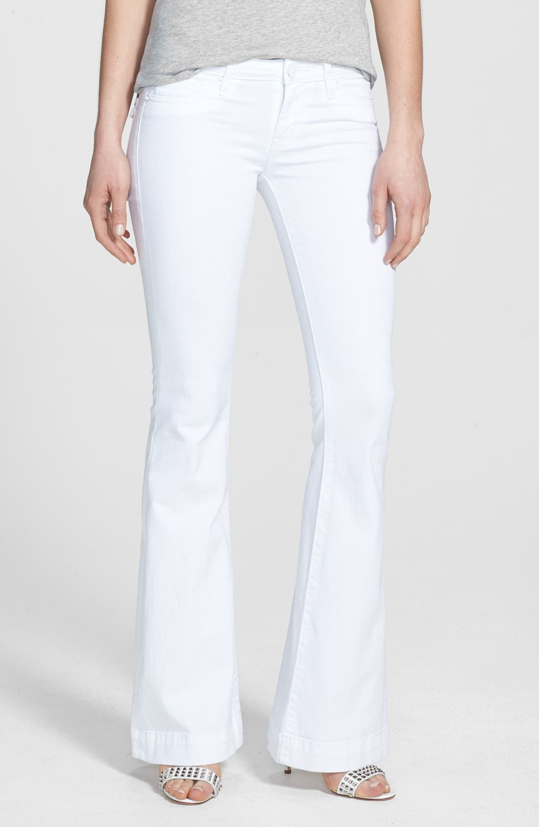 Main Image - Hudson Jeans 'Ferris' Flared Jeans (White)